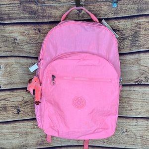 NWT Kipling Seoul neon pink Backpack